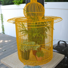 Contemporary Patio yellow Birdcage