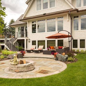 Zen Backyard Patio   Private Residence on Lake Harvey in Edina