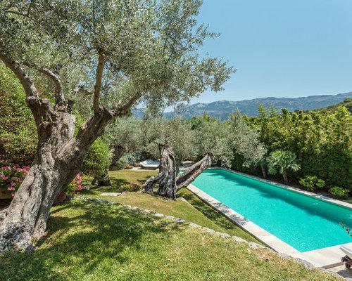 Fotos de exteriores dise os de exteriores de estilo de for Diseno de piscinas para casas de campo