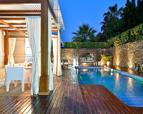 Best affordable pool design ideas remodel pictures houzz for Piscinas alargadas