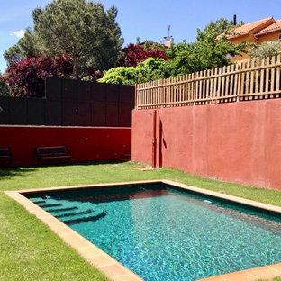 Los Peñascales, diseño de exteriores con piscina
