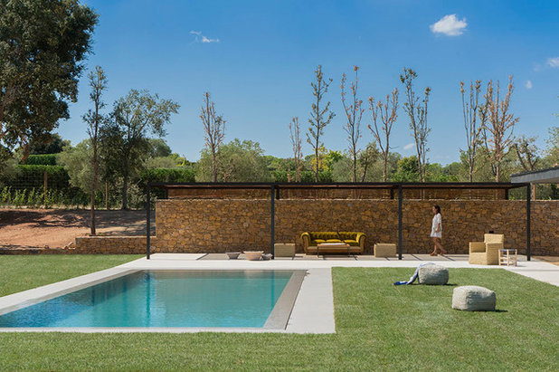 Contemporary Pool by Susanna Cots