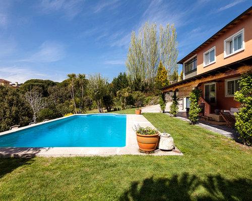 Fotos de piscinas dise os de piscinas de estilo de casa - Fotos de casas con piscinas pequenas ...