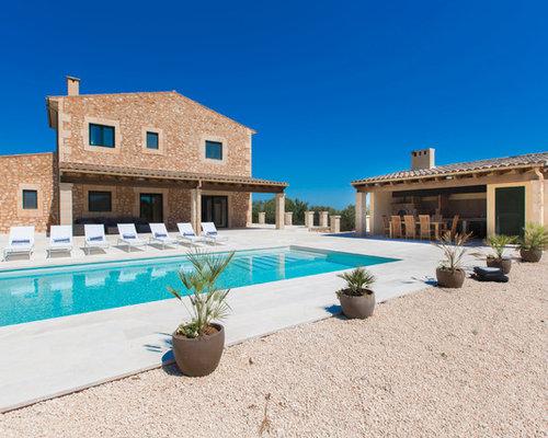 Fotos de exteriores dise os de exteriores de estilo de for Casas de campo con piscina