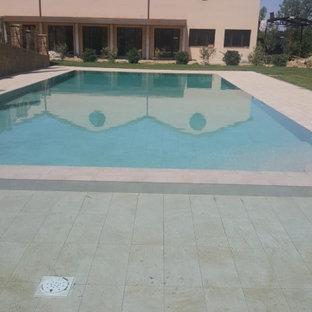 Modelo de piscina infinita, rural, grande