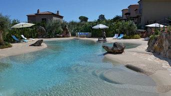 Piscina Naturale in sabbia e resina Sardegna