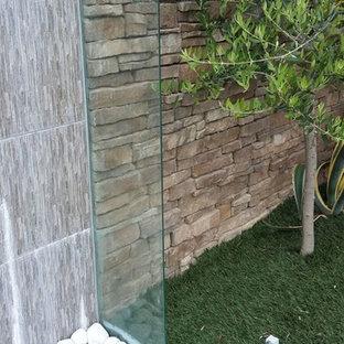 Modelo de piscina infinita, romántica, de tamaño medio, a medida, en patio trasero