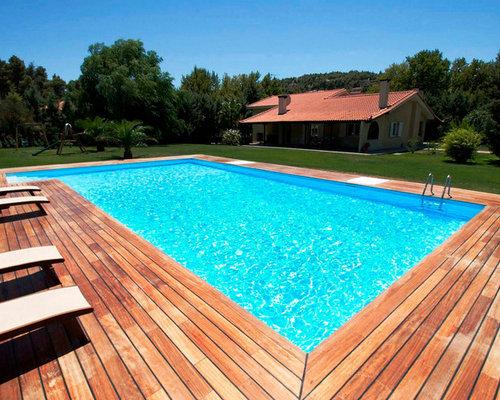 Foto e idee per piscine piscina in campagna - Immagini di piscina ...