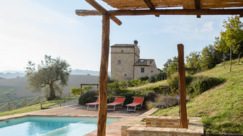 the watch tower in Montedinove, Le Marche