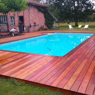 Inspiration for a country pool in Bordeaux.