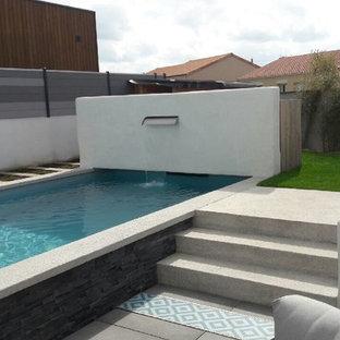 Aménagement piscine avec fontaine