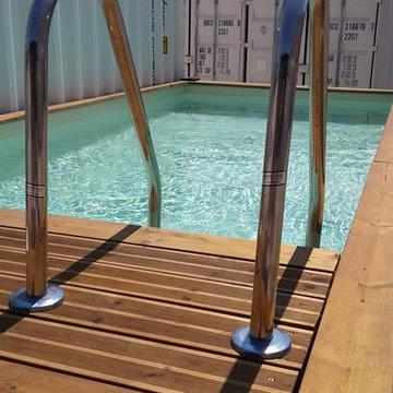 conception de votre piscine container personnalisée