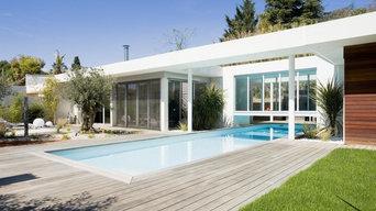 Création d'une terrasse + menuiseries et revêtements