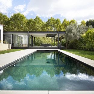 Piscine moderne de taille moyenne : Photos et idées déco de piscines