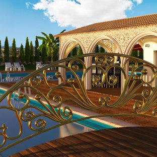 Design de villa - Pont au dessus de la piscine