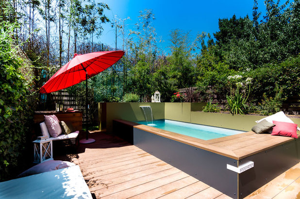 10 id es d 39 am nagement pour sublimer un petit jardin urbain - Amenagement piscine design saint etienne ...