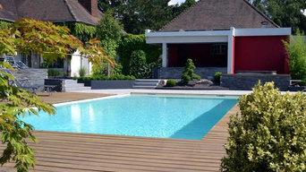 Jardin avec piscine