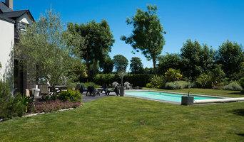Jardin avec piscine en Normandie