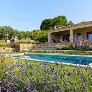 Inspiration pour un couloir de nage arrière méditerranéen rectangle.