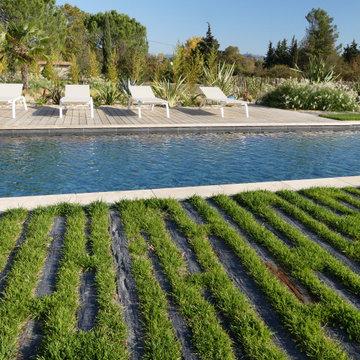 Jardin méditerranéen contemporain   4000m²