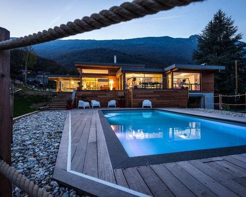 Maison bourget du lac trendy maison moderne bois savoie for Camping lac du bourget avec piscine