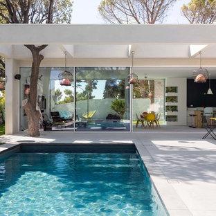 Diseño de piscina actual, de tamaño medio, rectangular