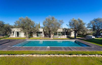 Le Case Houzz: Costruire una Villa Con Piscina Tra gli Ulivi