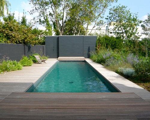ralisation dune piscine design rectangle et de taille moyenne - Piscine Hors Sol Avec Terrasse