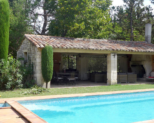 Ext rieur m diterran en grenoble photos et id es d co d - Piscine pool house des idees ...
