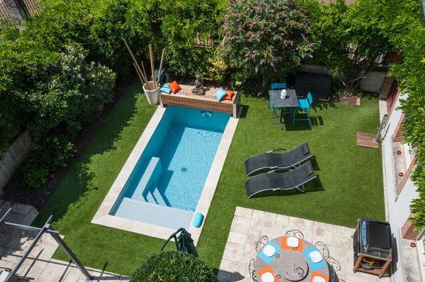 Piscine de la semaine petit bassin grand confort au - Piscine dans petit jardin ...
