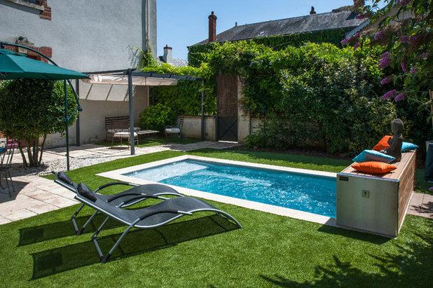 Piscine de la semaine petit bassin grand confort au - Piscine sur petit terrain ...
