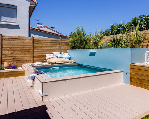 piscine sur une terrasse en bois hors sol photos et. Black Bedroom Furniture Sets. Home Design Ideas