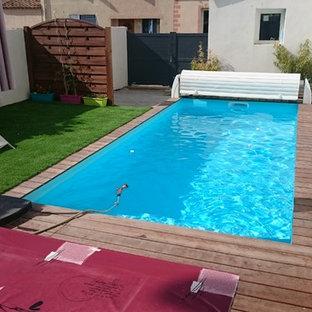 Aménagement d'une piscine contemporaine.