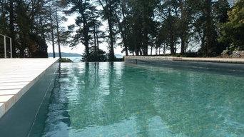 piscines vue de mer
