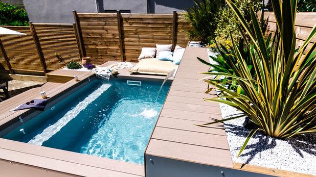 der traum vom eigenen pool in diesem stadtgarten wird er wahr. Black Bedroom Furniture Sets. Home Design Ideas