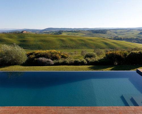 Foto e idee per piscine piscina moderna for Casa moderna rettangolare