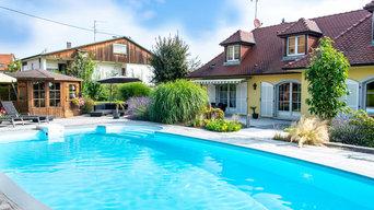 Réaménagement abords de piscine et jardin