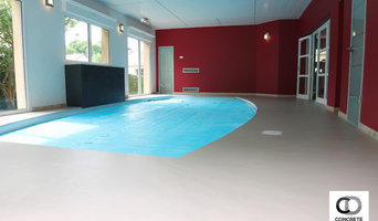 Rénovation du sol d'une piscine interieur