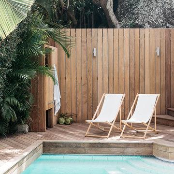 Une piscine dans la Villa Palmier à St Barth