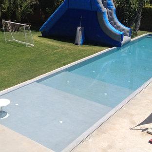 Imagen de piscina infinita, actual, extra grande, rectangular