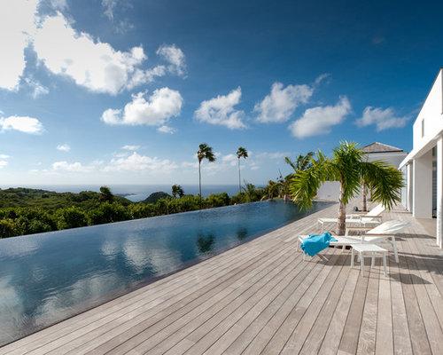 tropical infinity pool design ideas renovations photos. Black Bedroom Furniture Sets. Home Design Ideas