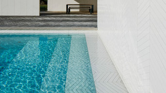 Parquet Patterned Pool ans Spa Project