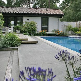 Stilren, arkitektonisk trädgård | Private Swedish courtyard