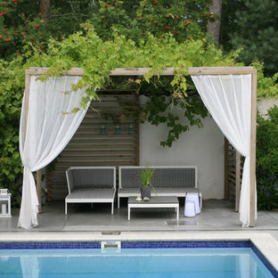 Inspiration for a scandinavian pool in Stockholm.