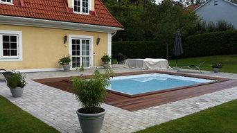 Swimmingpool & uteplats Danderyd