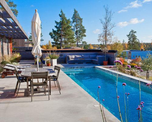 Fotos de piscinas dise os de piscinas n rdicas en patio - Losas para piscinas ...