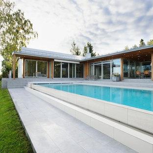 Пример оригинального дизайна: бассейн в скандинавском стиле