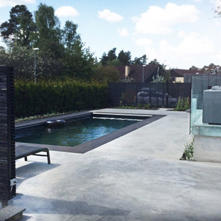 Inspiration for a mid-sized scandinavian pool in Stockholm.