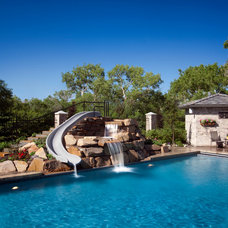 Traditional Pool by Magleby Construction