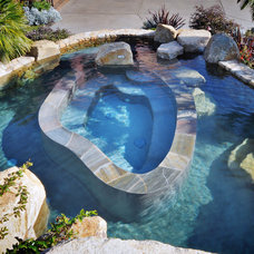 Traditional Pool by Elevation Architectural Studios